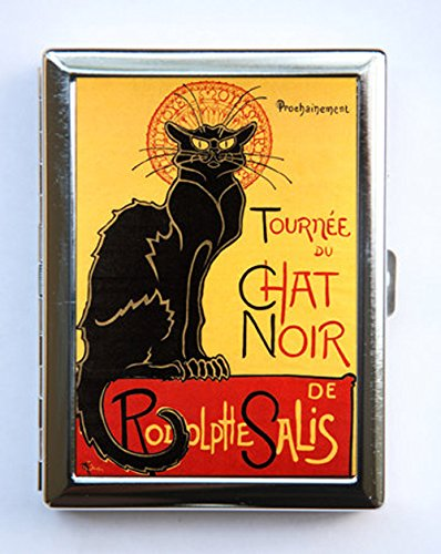 Le Chat Noir Cigarette Case id case Wallet Business Card Holder french poster -