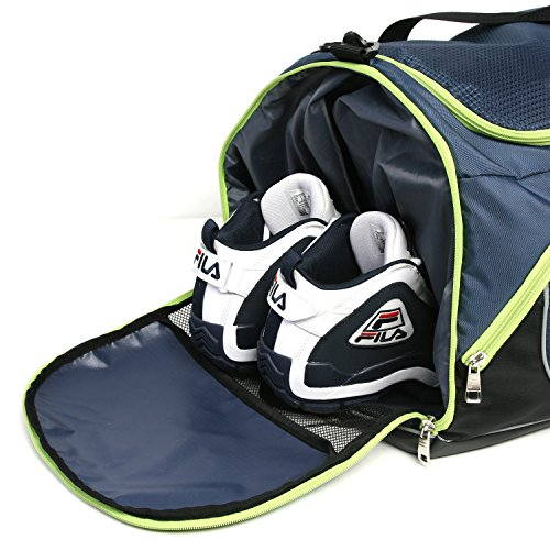 Lime Bag with Sports Shoe Gym Small Blue Duffel Compartment Advantage qSwxzUnFn