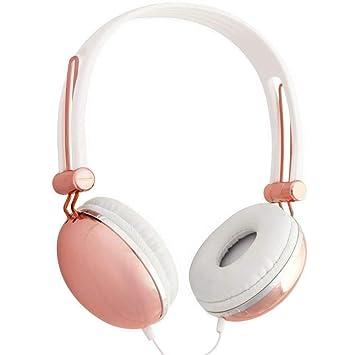 Lily England Auriculares con Micrófono y Control de Volumen, Compatibles con Android/Apple/Samsung/PCs, Oro Rosa: Amazon.es: Electrónica