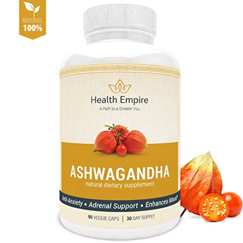 Organic Ashwagandha Root Powder 1950mg - Pure Ashwagandha Extract Capsules for Stress Relief, Anxiety Relief, Thyroid Support, Adrenal Support - Premium Ashwagandha with Black Pepper Extract