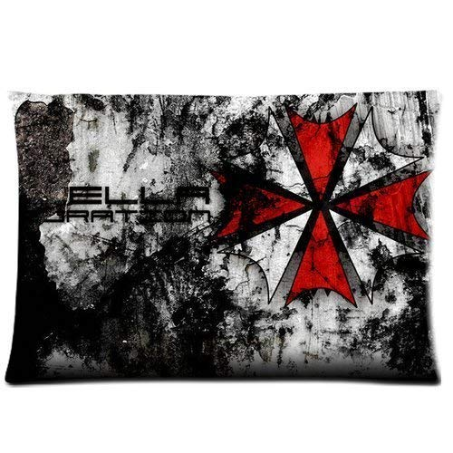Ausy Girls Boys Pillowcases Pillows Covers Cases Hot Science Fiction Adventure Film Resident Evil LogoCustom Decoration Zippered 18X18 Inch Hotel,Cafe,Car,Sofa Throw Pillow Case Cushion Cover