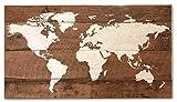 Reclaimed wood world map medium size