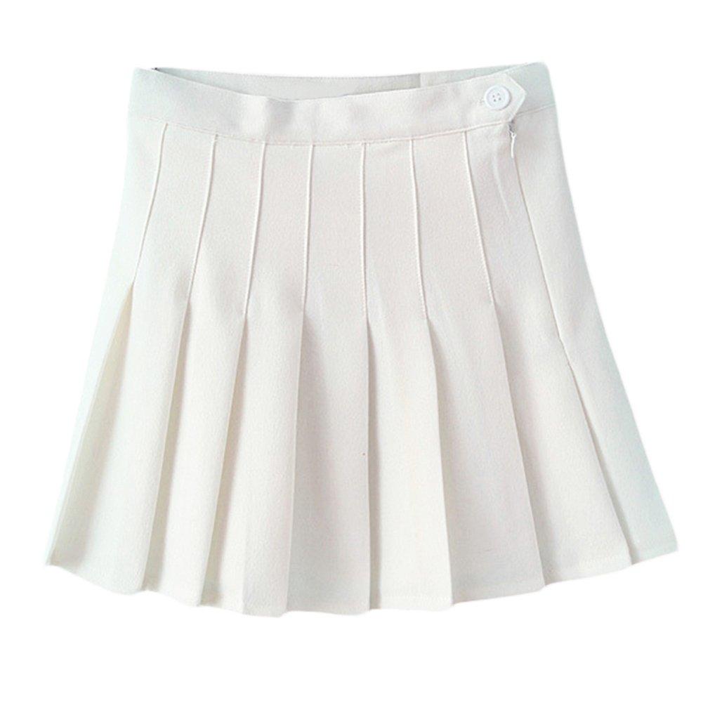ec0dda71a Juleya Women Girl Slim Cintura Alta Plisada Faldas de Tenis Mini Vestido