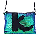 ZYooh Fashion Women Girls Handbag Sequins Tote Purse Messenger Phone Holder Bag Crossbody Shoulder Bags (Green)