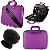 SumacLife Cady 10.1-inch Tablet Messenger Bag for Fire HD 10 with Bluetooth Speaker (Purple)