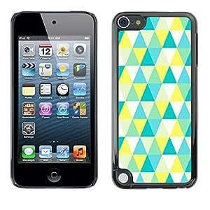 Jordan Colourful Shop - Polygon Art Pattern Bright For Apple iPod Touch 5 Custom black plastic Case Cover