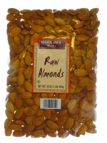 Trader Joe's Raw Almonds, 1 lb (4 - Pack)