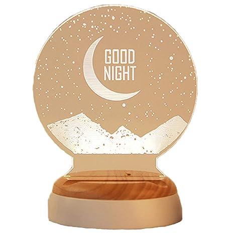 LIUWENQING Luz Nocturna pequeña 3D Creative Gadget Regalo de ...