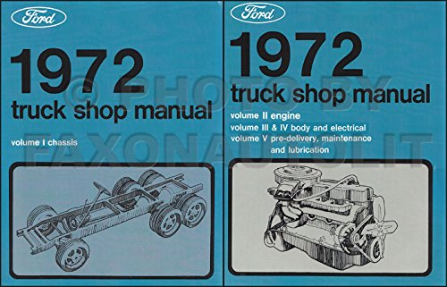Manual Bronco Shop (1972 FORD TRUCK FACTORY REPAIR SHOP & SERVICE MANUAL SET Includes F100, F250, F350 Pickup, Bronco, Econoline, Van, Wagon, C & CT Series, L-Series, W-Series, P-Series)