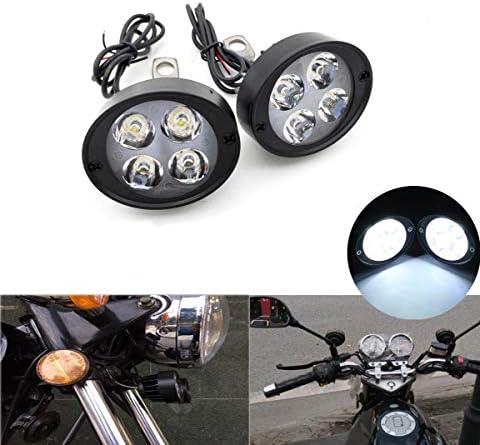 Motorrad Scheinwerfer Nebelscheinwerfer Zusatzscheinwerfer Für Motorradfahrräder 2 Stück Universal 4 Led Auto
