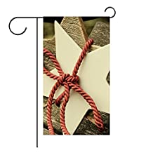 YourPink Garden Flag Star Rope Christmas 12x18 inches(Without Flagpole)