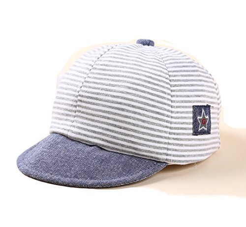 DANMY Baby Boy Girls Baseball Cap Striped Sunhat Infant Hat ()