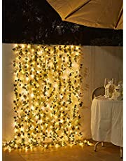 Rattan String Lights Outdoor 100 Led 32.8 FT Realistic Plants String Lights LED Decorative Lights Garland Vines with Lights for Bedroom/Home/Festival/ Wedding /Party Decoration