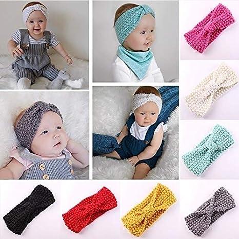 Fascia per neonata Egosy con Orecchie di Coniglio con Stampa Turbante a Stretch