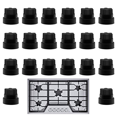 20 Pack Impresa Thermador Grate Feet Part Compatible with Part Number 00618112 1999626, 617174, 618112, AH3478553, EA3478553, PS3478553 (Stove Gas Grates)