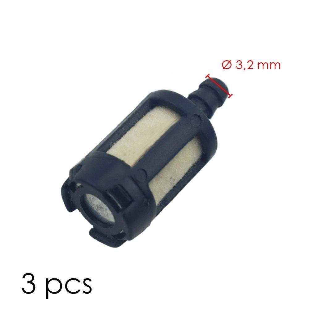 3 filtros de gasolina motosierra compatible ZF-1 Homelite ...