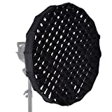 Andoer 16-Pole 60cm Folding Collapsible Beauty Dish Softbox with Honeycomb Grid Bowens Mount for Studio Strobe Flash Light