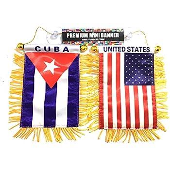 Cuban American Flags 2 Sided 1 Side Cuba Car Flag 1 Side American Car Flag