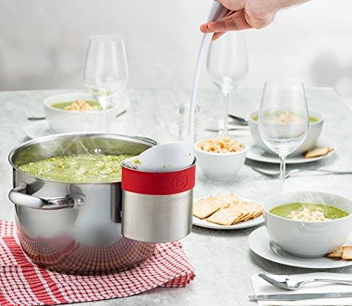 belwares acero inoxidable cuchara Dock para utensilios - esta taza cuelga sobre sartenes y ollas para preparar y servir la comida sin necesidad de crear un ...