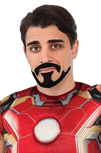 Rubie's Costume Co Men's Avengers 2 Age Of Ultron Iron Man Tony Stark Mustache, Black, One Size (Tony Stark Halloween Costume)