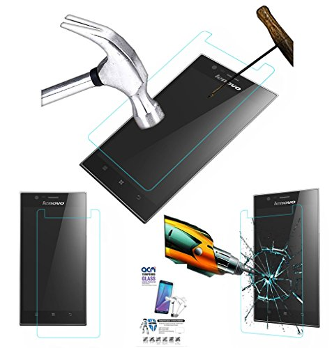 Acm Tempered Glass Screenguard Compatible with Lenovo K900 Mobile Screen Guard Scratch Protector