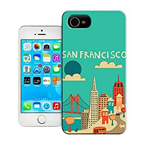 Unique Phone Case Famous artwork San Francisco Skyline (Blue Version) Hard Cover for 5.5 inches iphone 6 plus cases-buythecase