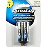 Ultralast - Lithium Phosphate Rechargeable Batteries for 3.2 Volt Outdoor Solar Lighting - 600mAh