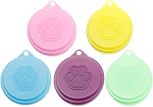 HYQQ New Top Keep Fresh Cat paw Food Tin Cover Plastic Lids Pet Supplies Cans Cap(1pc)