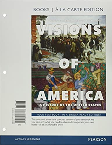 Amazon.com: Visions of America: A History of the United States, Volume Two, Books a la Carte Edition (3rd Edition) (9780133767766): Jennifer D. Keene, ...