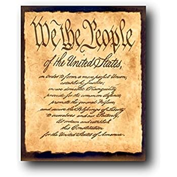 Amazon Com Constitution Of The United States Quot We The