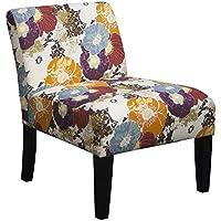 Floral Graffiti Armless Slipper Accent Chair
