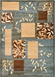 Well Woven Great Forest Blue Floral Nature Modern Formal Area Rug 9×13 (9'3″ x 12'6″) Easy to Clean Stain Fade Resistant Shed Free Traditional Transitional Soft Living Dining Room Rug Review