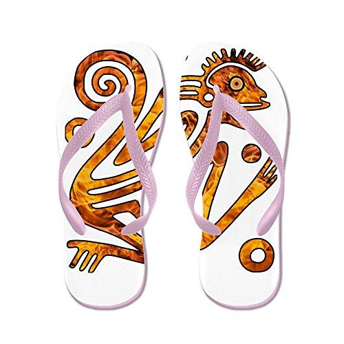 Verkligt Teague Mens Kinesiska Nyåret Aztec Stil Brand Apa 2016 Gummi Flip Flops Sandaler Rosa