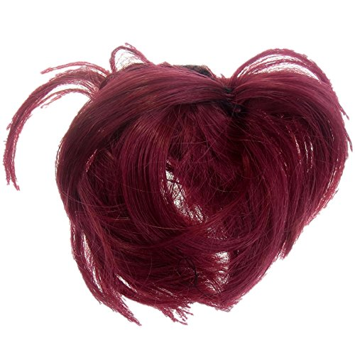 (New Style Hair Extension Scrunchie Up Do Down Do Spiky Twister (Ruby Red))