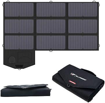 ALLPOWERS Panel solar plegable de 60 W con salida de 18 V CC para generador portátil, computadoras portátiles, batería de automóvil de 12 V, cargador ...