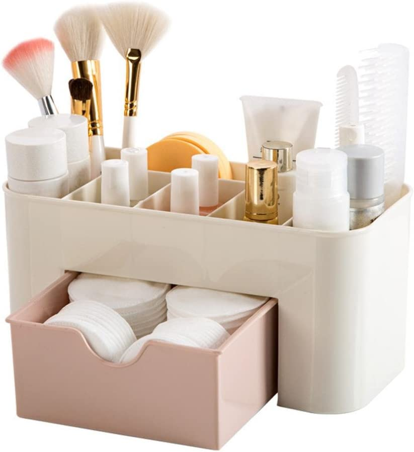Caja Para Cosméticos Paellaesp Organizador Guardar Espacio De Escritorio Maquillaje Cajón De Almacenamiento De Tipo Caja (Rosa)