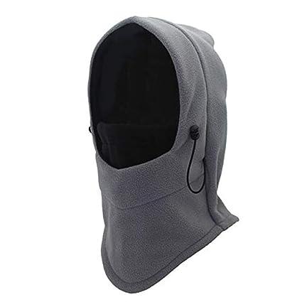3-in-1 polaire cache-cou foulard masque unisexe beanie pour hiver en plein air de ski moto