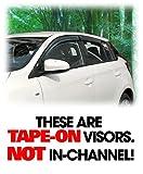C&C Car Worx Tape-On Outside-Mount WV-13Y-TF Set of 4 Side Window Visor Rain Guard Deflectors to fit 2013 14 15 16 17 Toyota Yaris/Vitz/Echo 5-Door Hatchback