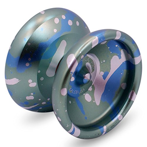 Sidekick Yoyo Pro Green Blue Silver Splashes Professional