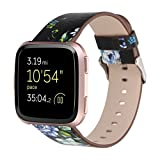 YJYdada Fashion Pattern Leather Strap Replacement Watch Band for Fitbit Versa (F)