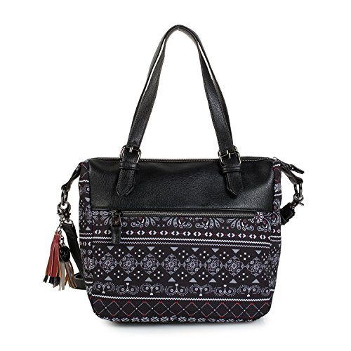 negro Bolso shopping polipiel mujer para T Albany en SKPA AnxHwP8q5