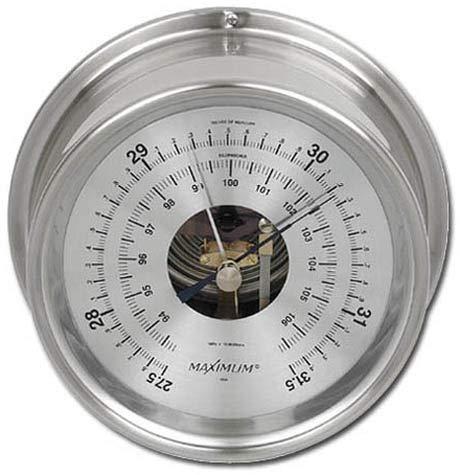 Maximum Weather Instruments Proteus Barometer - Nickel case, Silver dial