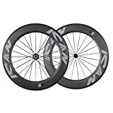 ICAN 86mm Tubular Triathlons/Road Bike Carbon Wheelset Basalt Brake Surface 20/24 Holes 1700g