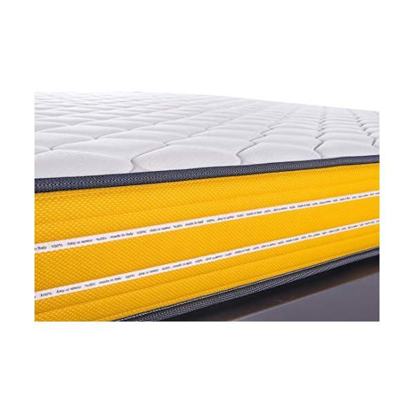 FARMARELAX - Materasso Singolo Memory 80x190 cm, Altezza 23 cm, Ortopedico, Imbottitura MemoryFoam 3 cm, Fascia 3D… 3 spesavip