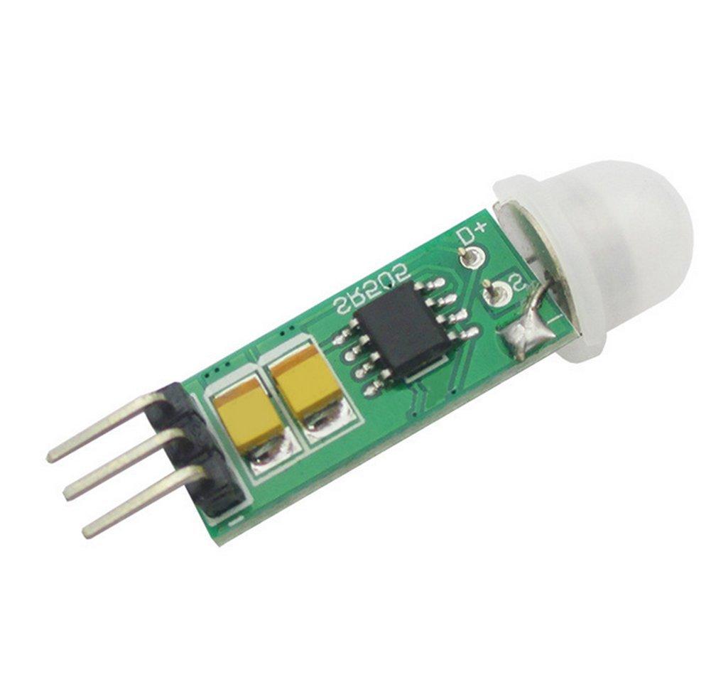 CAOLATOR HC-SR505 Mini Módulo Compacto del Sensor del Cuerpo, Módulo del Interruptor del Sensor del Cuerpo Humano: Amazon.es: Electrónica