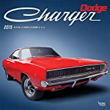 Dodge Charger 2019 12 x 12 Inch Monthly Square Wall Calendar with Foil Stamped Cover, American Muscle Motor Car