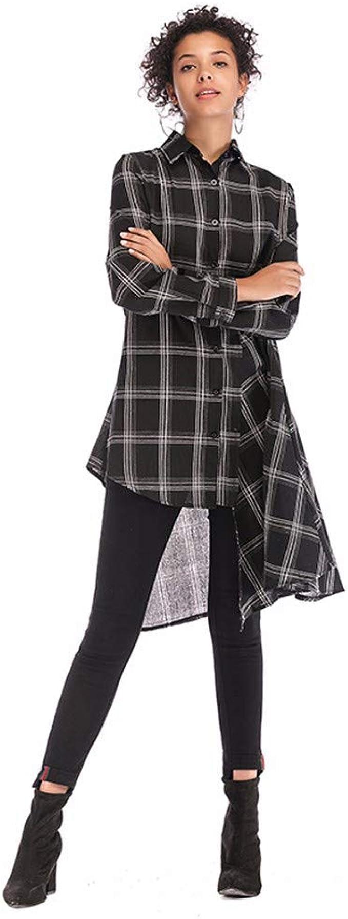 Vestidos de Mujer Camisa de Rejilla Vestido de Manga Larga Fiesta de Moda de Verano Sin Vestido con Cremallera: Amazon.es: Ropa y accesorios