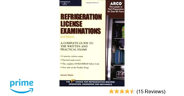 Refrigeration license examinations arco professional certification refrigeration license examinations arco professional certification and licensing examination series arco 9780768910193 amazon books fandeluxe Image collections