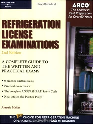 Refrigeration License Examinations (Arco Professional Certification and Licensing Examination Series)
