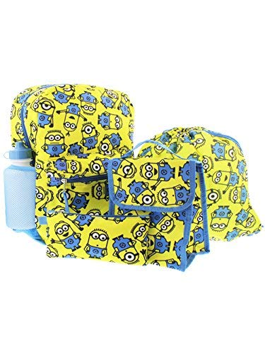 Despicable Me Minions 5 piece Backpack School Set -